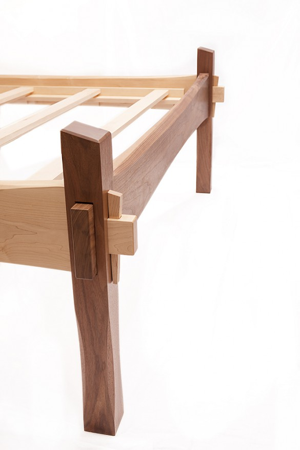 Bed frame by Joseph Nemeth - Furniture Maker and Founder of Tempest Woodworking. 