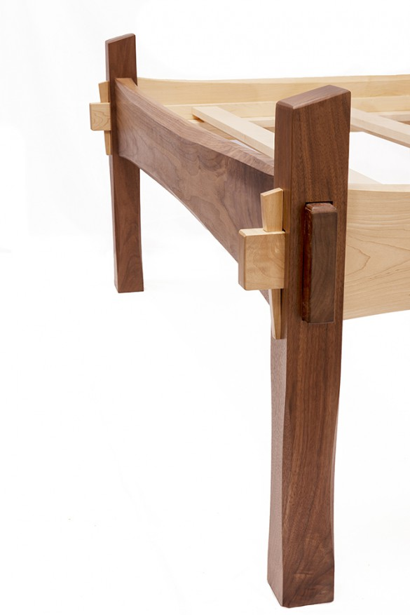 Bed frame by Joseph Nemeth - Furniture Maker and Founder of Tempest Woodworking.  Photo By: ANNE-MARIE CARUSO